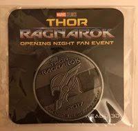 thor ragnarok opening night fan event marvel thor ragnarok exclusive coin opening night fan e