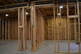 Insulating Unfinished Basement Basement Construction In Mount Prospect Il Barts Remodeling