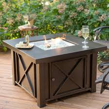 napa valley crystal fire pit table napa valley outdoor square fire pit table durable metal base square
