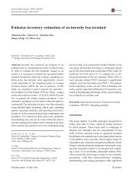 PDF Emission inventory estimation of an intercity bus terminal
