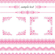 set of lace ornament mix vector free vector in encapsulated