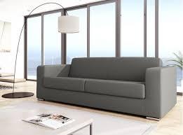canapé design canapé design 3 places en tissu gris clair