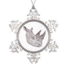 rhinoceros ornaments keepsake ornaments zazzle