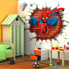 Decoration Kids Wall Decals Home by Popular Kids Room Wallpaper Spiderman Buy Cheap Kids Room