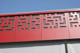 perforated cladding in fiber panel decorative single