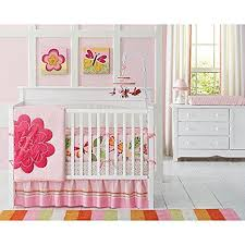 amazon com amy coe bloom 4 pc crib bedding set flower butterfly