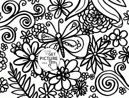 spring pattern coloring page for kids seasons coloring pages