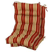 Porch Chair Cushions Furniture Beautiful High Back Patio Chair Cushions Design Ideas