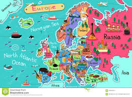 European Map by Europe Map Stock Vector Image 64879377