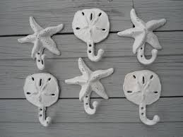 sand dollar hooks starfish beach home decor nautical beach