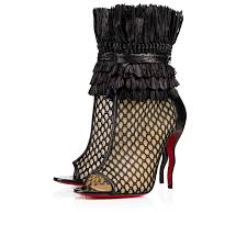 womens christian louboutin so baker knots boots in black christian