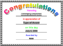 award certificates award certificate gift certificate template