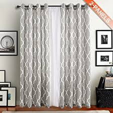 amazon com moroccan pattern linen curtains 95 inch long for