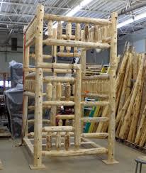 Triple Log Bunkbed  FullFullQuen The Log Furniture Store - Log bunk beds