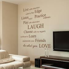wall sticker sayings vinyl wall sticker decal in this house we do live with intention do what you love inspirational phrases sayings wall decals stickers vinyl wall quotes