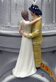 fireman wedding cake toppers firefighter cake topper kitchen dining