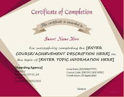certificates of completion templates for ms word