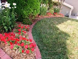 Flower Bed Border Ideas Brick Flower Bed Border