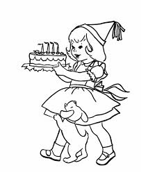 and birthday cake coloring page birthday coloring pages of