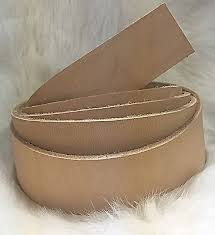 Natural Cowhide Leather Belt Blanks Hermann Oak Veg Tan Leather Natural Cowhide Belt Blank 1 1 4