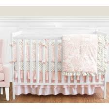 White Crib Set Bedding White Crib Bedding Pieces You Ll Wayfair