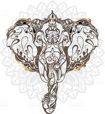 vintage mandala vector elephant with tribal ornaments stock vector