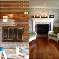 Fireplace Wall Ideas by An Easy Update To The 80 U0027s Full Brick Wall Fireplaces You Can