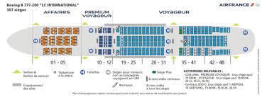 boeing 777 200 sieges 777 200 307 pax gif air la première et la cabine affaires