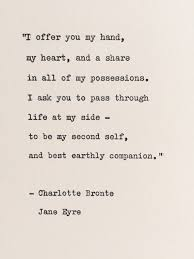 wedding quotes eyre at my side bronte quote eyre marriage