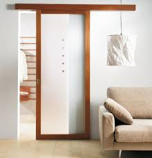 stylish wall sliding doors interior design with wooden header and