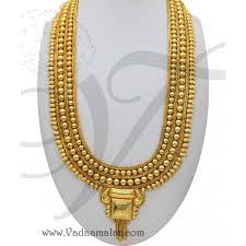 kerala design necklace gold colour jewellery