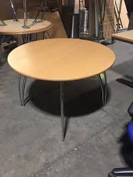 used round office table used 1200mm beech tables chrome legs aline office furniture