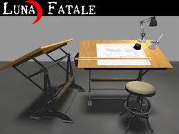 Iron Drafting Table Second Life Marketplace Couples Animated Drafting Table