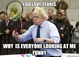 Funny Tennis Memes - why is everyone looking at me funny tennis meme
