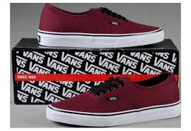Comfortable Canvas Sneakers Vans Shoes Burgundy Authentic Womens Mens Classic Canvas Sneakers