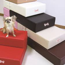 pu leather pet cat dog bed stairs ramp mat for small dog anti slip