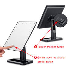 touch led light illuminated makeup cosmetic vanity bathroom stand