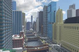 New York Minecraft Map by Recreating Chicago U0027s Famous Skyline In Minecraft Curbed Chicago