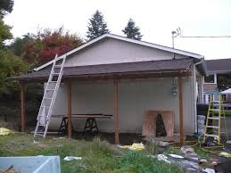 cream wall house with lean carport can be combined with brown