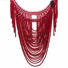 resin bead necklace images Fashion jewelry vintage statement body shoulder bib full resin jpg