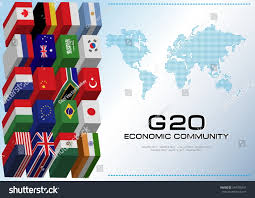World Map Country Flags Royalty Free G20 Country Flags With Dotted World Map U2026 248705341