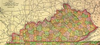 kentucky map of state geographic materials