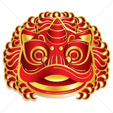 Lion Flag Free Chinese New Year Lion Head Vector Image 1402493