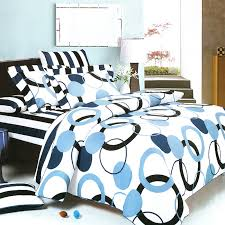 Blue And White Comforters Blue Black White Geometric Circle Dot Teen Bedding Modern