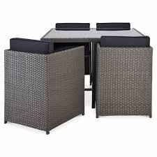 Good Rattan Specification Karaya Rattan Effect 4 Seater Dining Set Departments Diy At B U0026q
