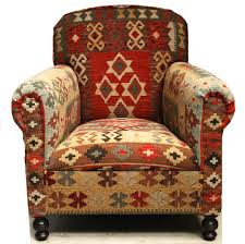 southwestern chairs and ottomans love this kilim chair western decor pinterest cabin