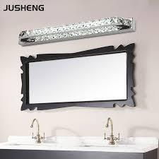 led bathroom light bulbs jusheng luxurious crystal bathroom wall light 18w led mirror light