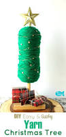 easy no sew diy yarn christmas tree holiday home decor