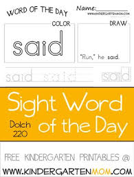 best 25 kindergarten sight word worksheets ideas on pinterest