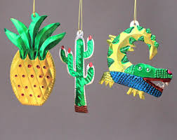 mexican ornaments etsy